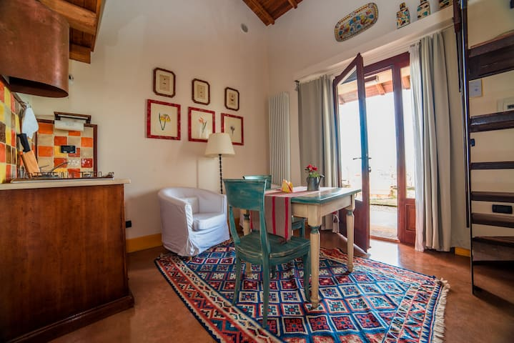 Spacious and panoramic loft apartment at L'Olmo - Bettona - Appartement