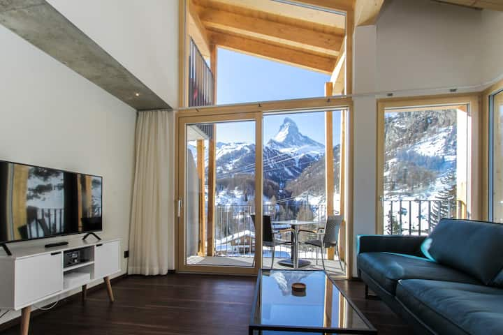 House Mojo: Mystic room: Panorama Matterhorn view