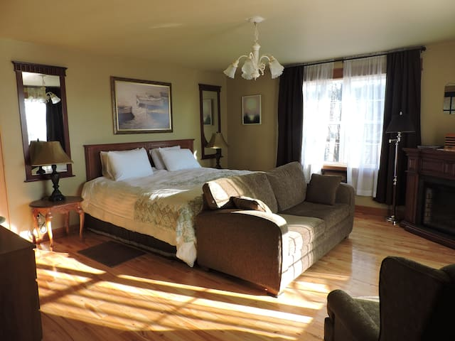 Master Suite with pullout sofa bed.