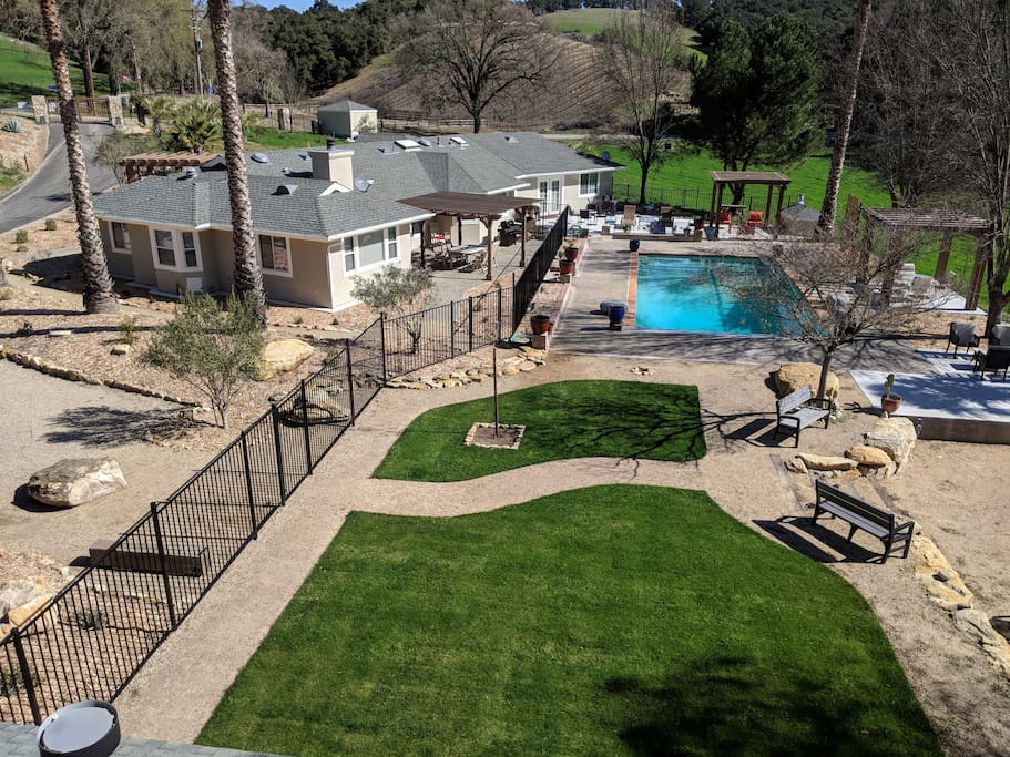 Rear yard and common pool