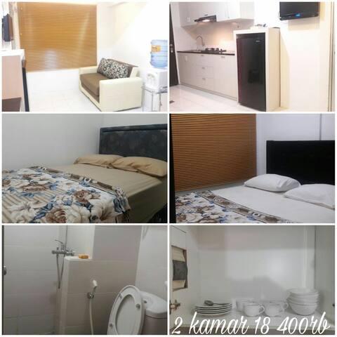 apartemen 2 kamar full furnished, Jarrdin, Bandung