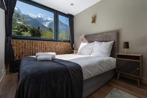 Modern apartment with the best Mont Blanc view!