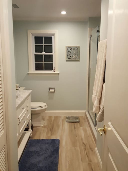 Private bathroom with walk in shower