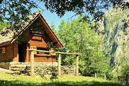 Cabaña con Encanto Cangas de Onis-Picos de Europa - Oriente de Asturias - 통나무집
