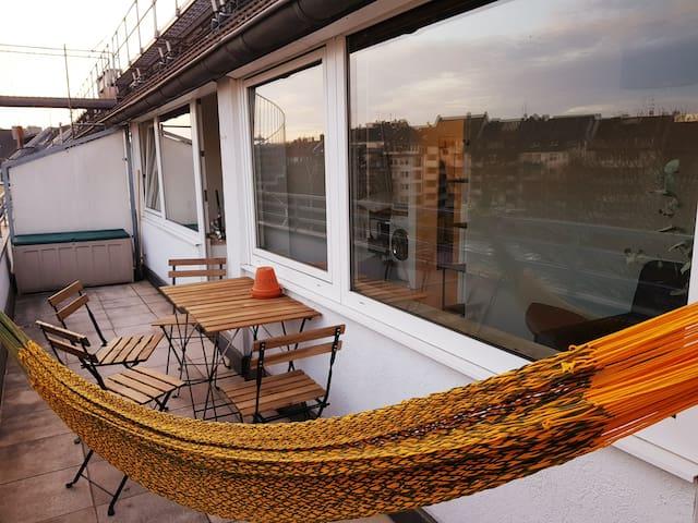 Charming maisonette with sun terrace