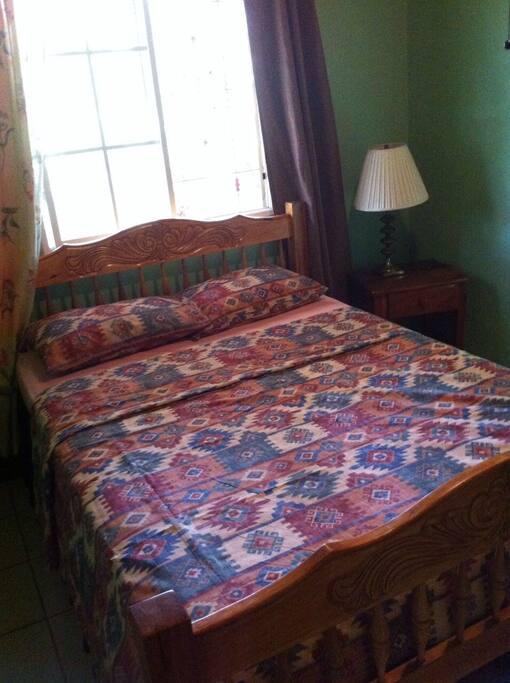 Green bedoom - double bed