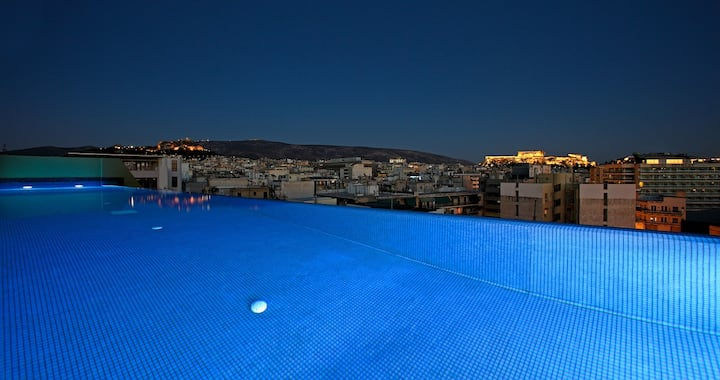 3 bdr Apt with pool - Athens Center (4th floor)