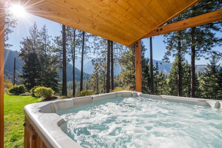 Soaking hot tub always ready