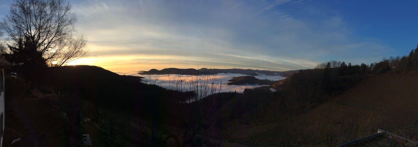Vue panoramique de La Dépendance sur la vallée