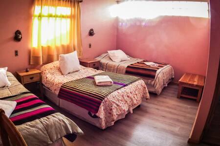 (3) Habitación triple + baño en el rural Chiu-Chiu