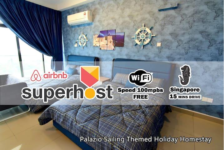 Palazio Sailing Themed Holiday Homestay (4Pax)