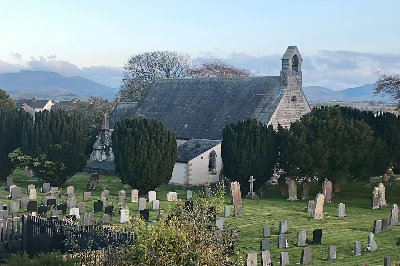 Views over Church to Skiddaw beyond