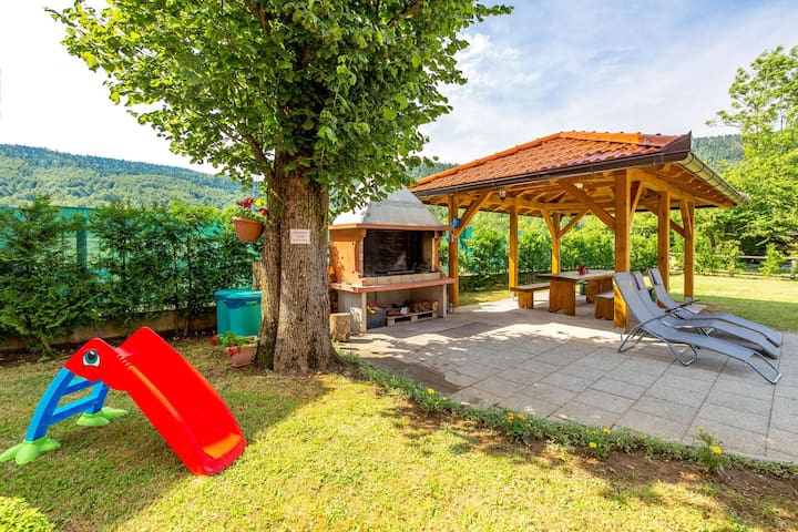 Apt for 4+2 persons with pool in Jasenak R66284
