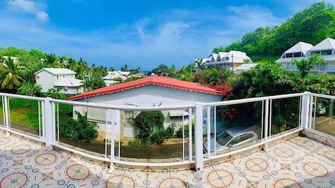 Chambre disponible - villa Bas du Fort