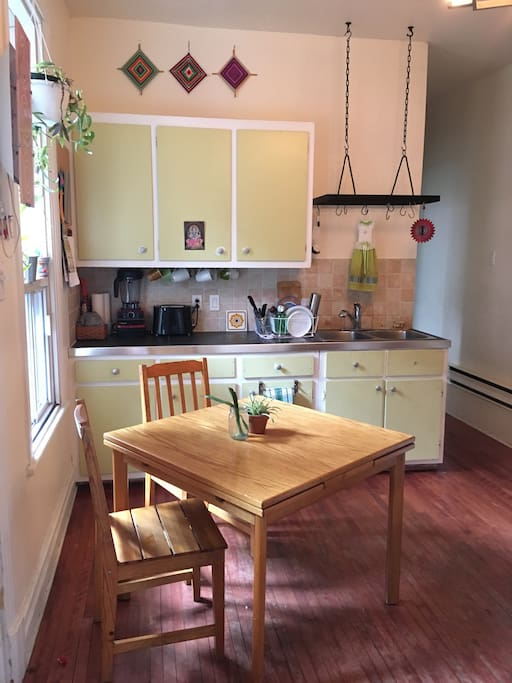 Here is the kitchen.