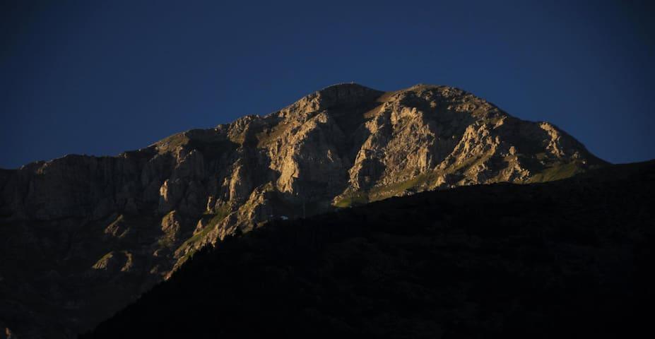 Peak of Monseny de Pallars ( 2883 AMSL ). Views from the house.