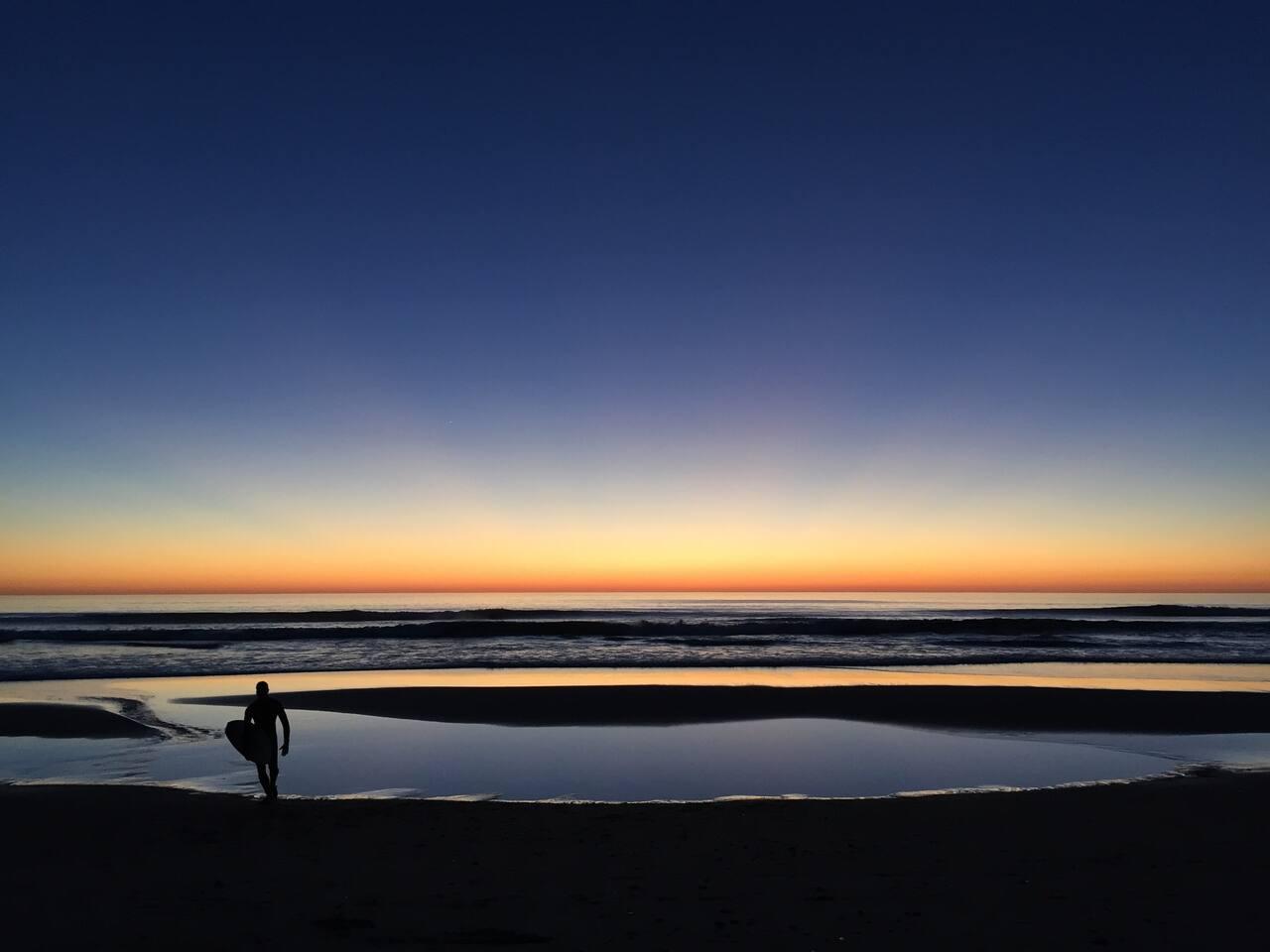 La Selva Beach surfing into the evening