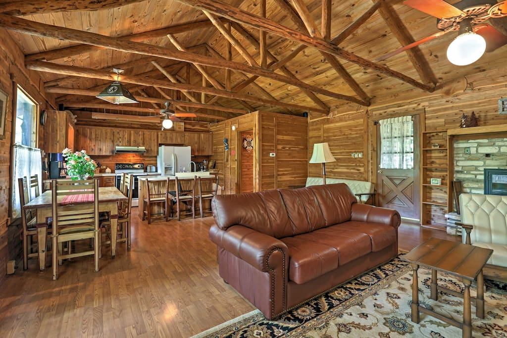 Hardwood floors, accents and walls give this home a true rustic feeling.