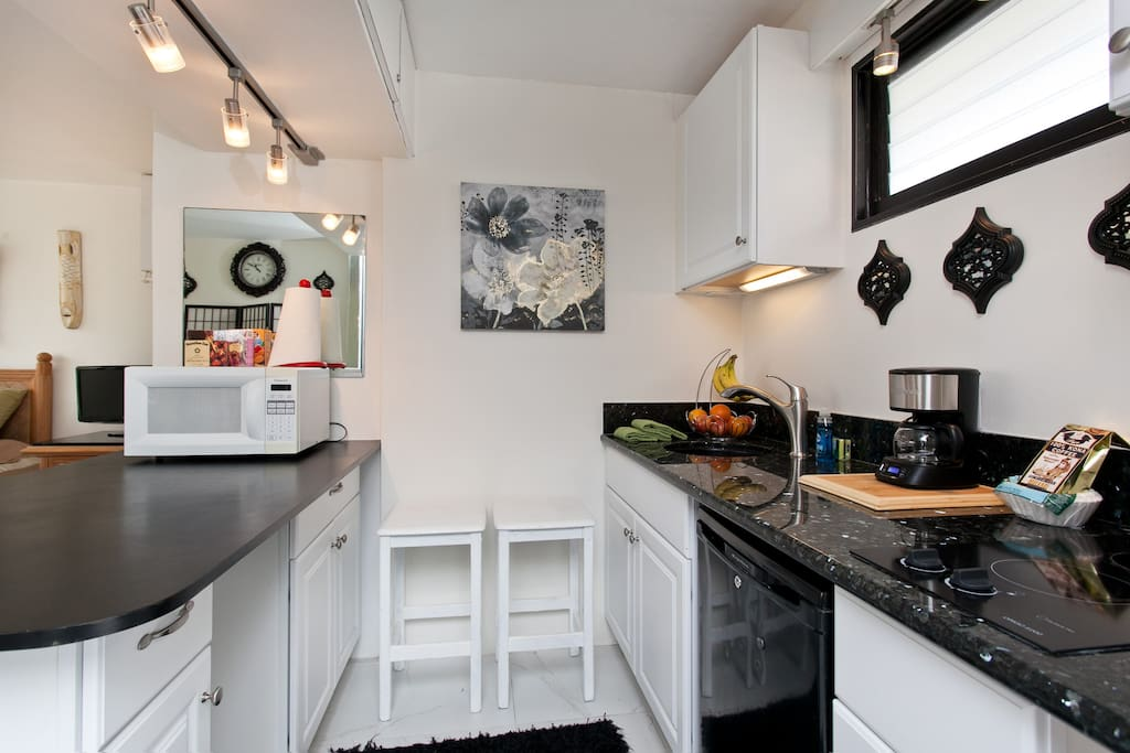 Large studio floor suite with kitchenette