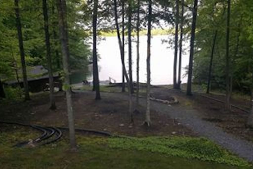 Lake view from the back deck of the house.