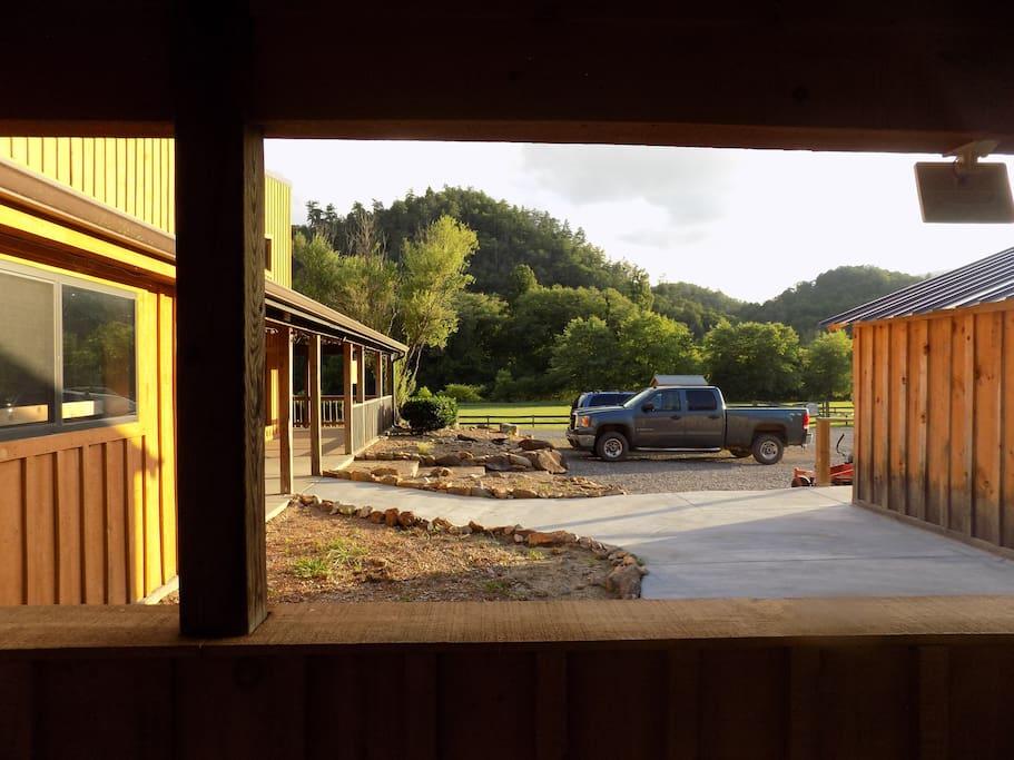 Bunkhouse entrance view