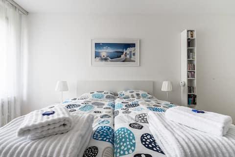 Przytulny pokój z prywatną łazienką - Nowoczesne i jasne