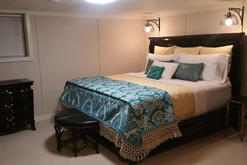 King Bed Farm style bed lights