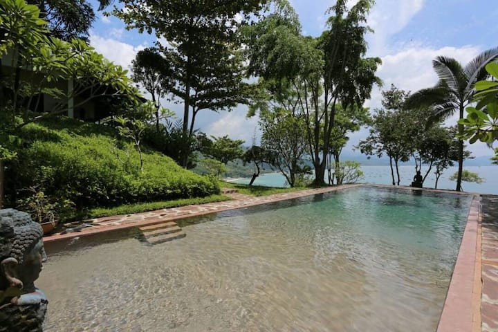 Private Beach Villa 2BR + Pool in Pelabuhan Ratu