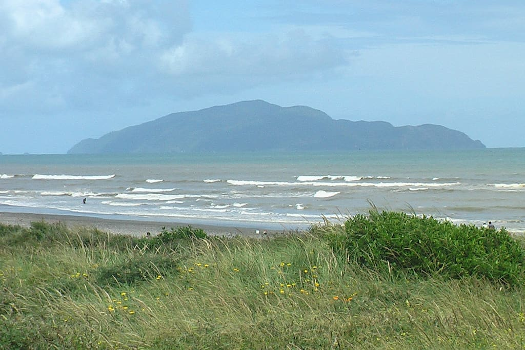 Not visible from our house, but we are close to the beautiful Kapiti Island
