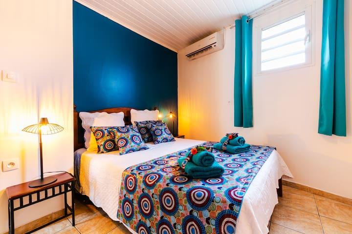 Chambre double au couleurs tendance