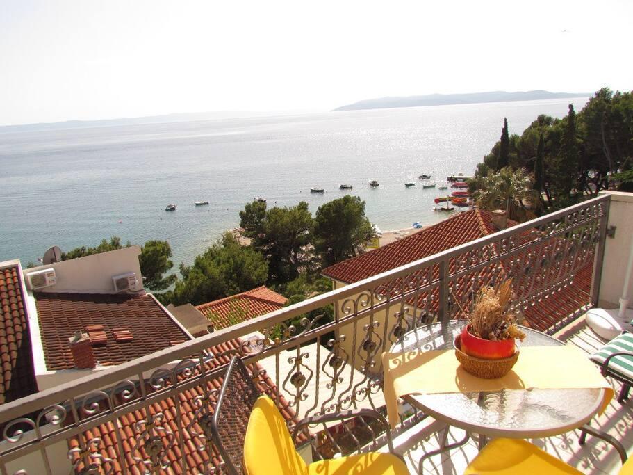 amazing sea view over balcony