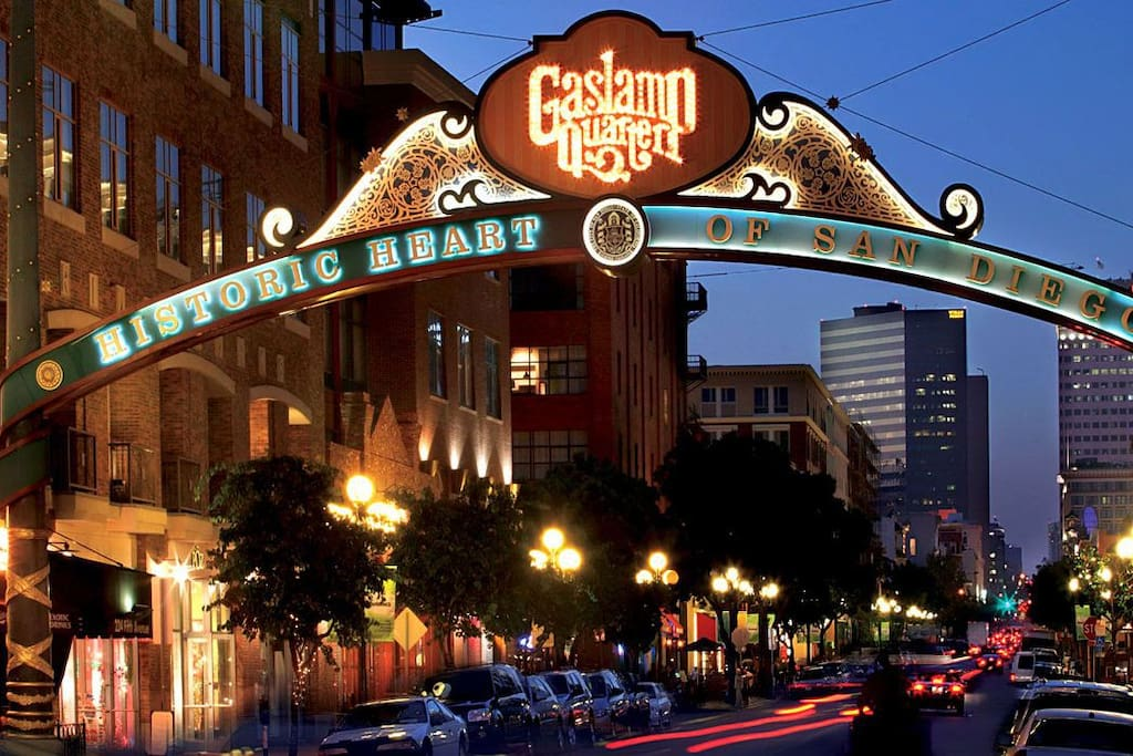 Walking distance to the Gaslamp district and the convention center. You'll have access to a  wide variety of bars and restaurants to choose from!
