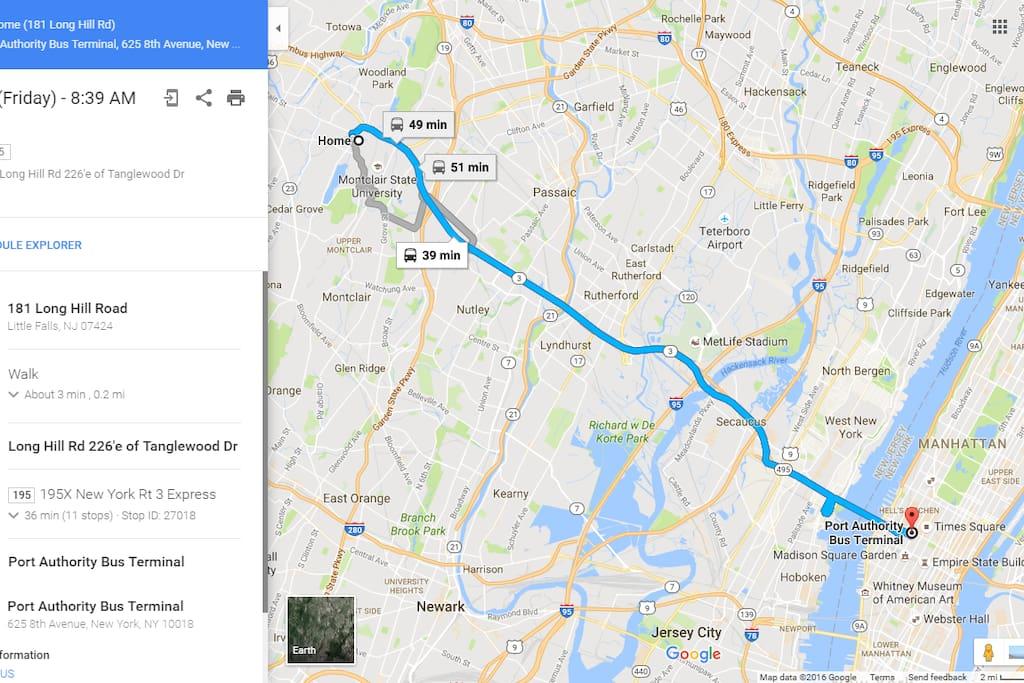Bus Route to Manhattan