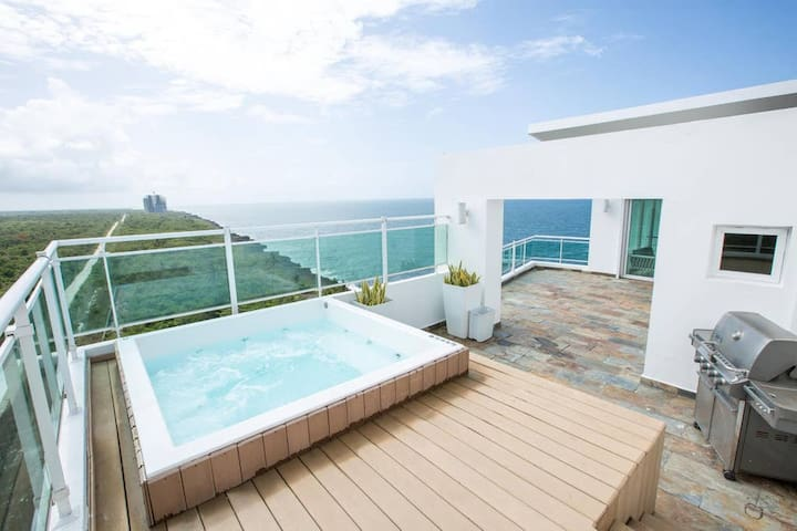 ☀️Private Jacuzzi+ BBQ Penthouse,Isolate w/style☀️