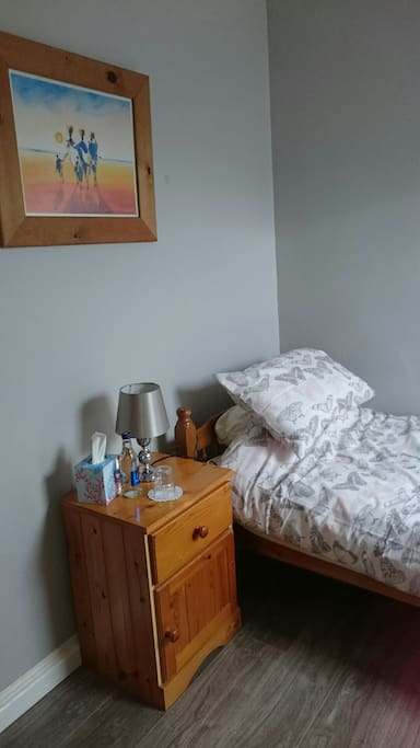 The room has its own private ensuite.