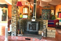 Wood stove & chill area