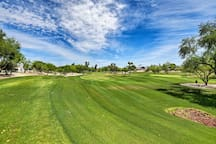 Practice your swing at the area's numerous golf courses.