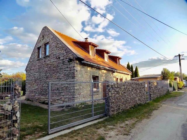 Rustic rock house next to Balaton