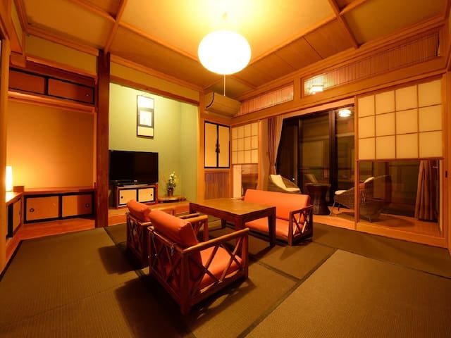 Kawaba Onsen Gunma Prefecture.With private semi open-air bath.Japanese-style dinner and breakfast Included.【From 2 pax】