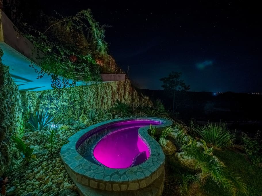 jacuzzi with led the colors and within the day oceanview
