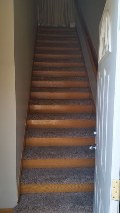 Stairs up to Apartment