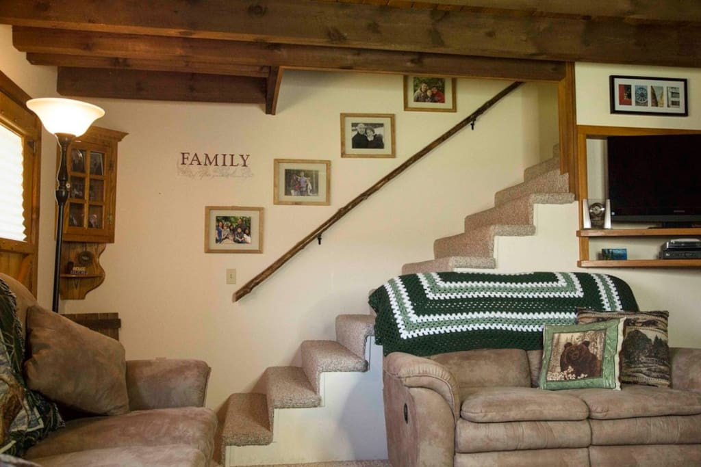Other view of Living Room with stairs