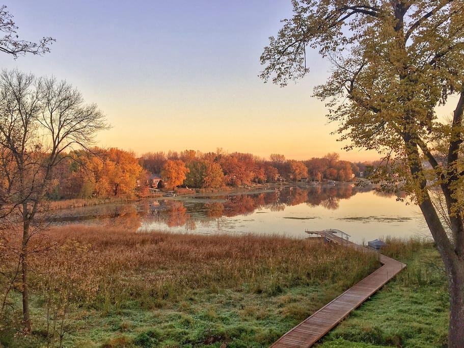 Lake View in Fall