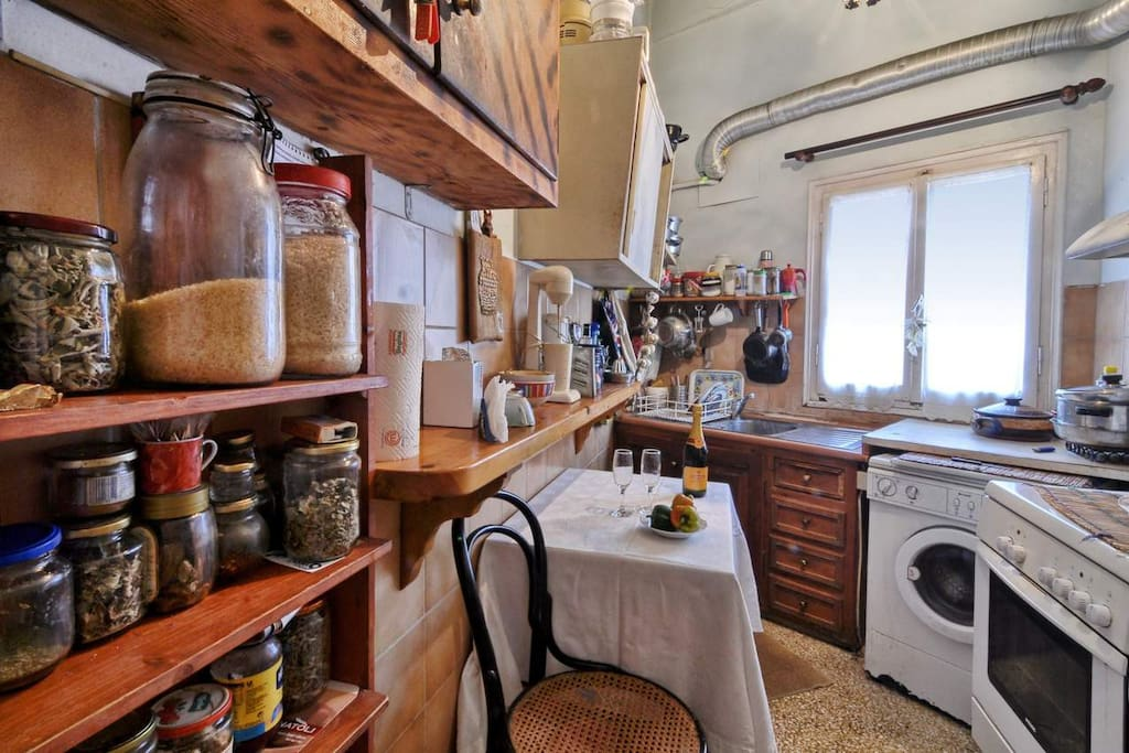 La cucina e'completamente attrezzata
