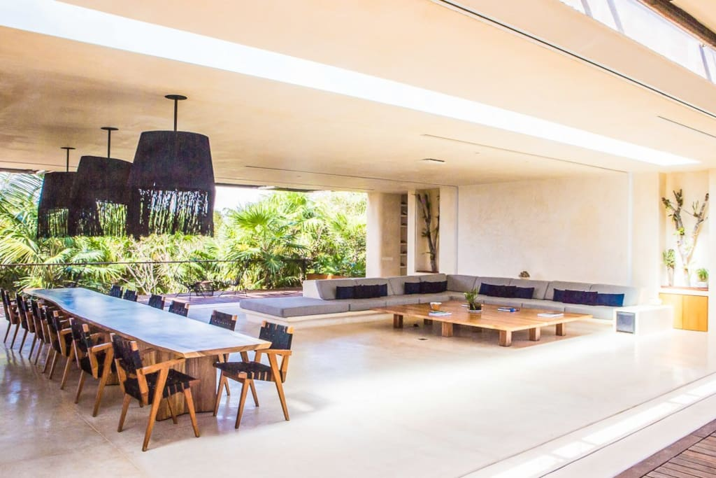 Inside, you can sit back and enjoy the home theatre, turn up the volume and boogie down on coffee table or look up through the ceiling to see whats going on in the glass bottom pool.