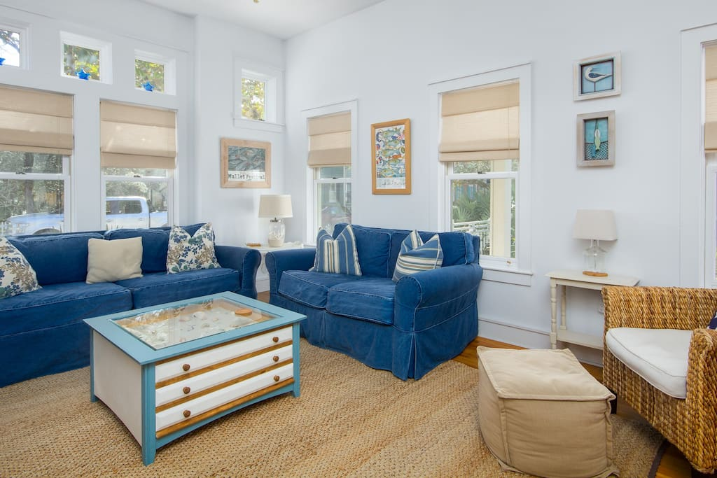 Decorated with a Cottage Theme with Windows Everywhere... Allowing for Tons of Natural Light