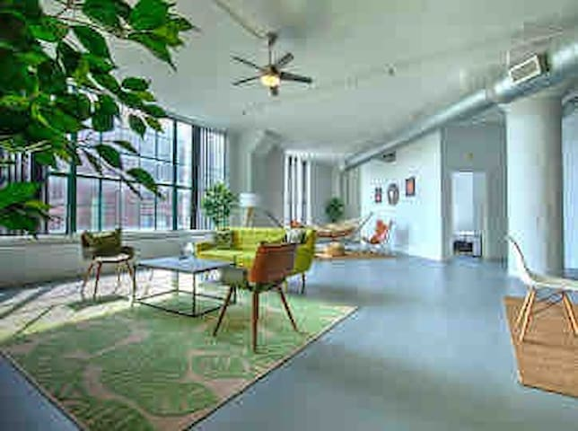 Spacious & Bright Artist Loft Downtown City Museum