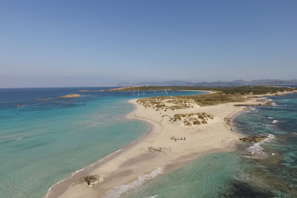 Ses Palmador, the island in between Ibiza and Formentera.