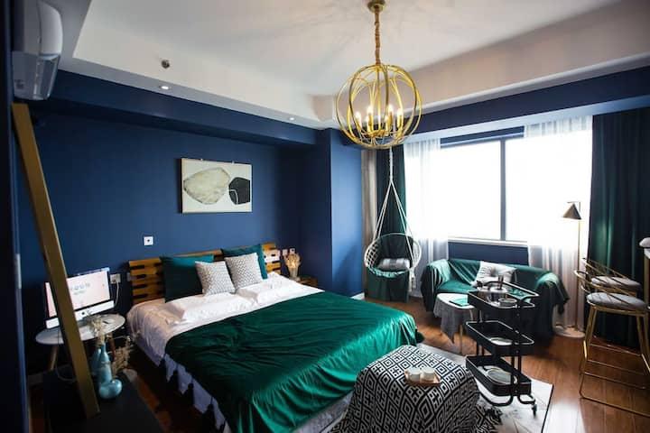 阳光100| Blue Dream|文艺格调|吊床|近泰华万达银座|栖夕民宿
