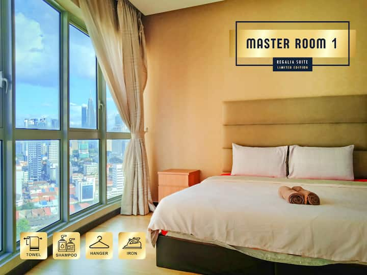 ★ Private master room @ Regalia Suite ★ KLCC view